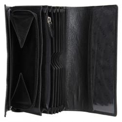 Lagen černá kožená černá kasírka  LG-02