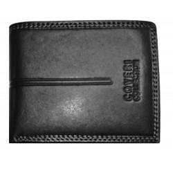 Kožená pánská peněženka Coveri Hor. 9950-992 black