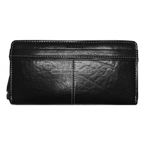 Dámská kožená luxusní peněženka Lagen 26512/T black