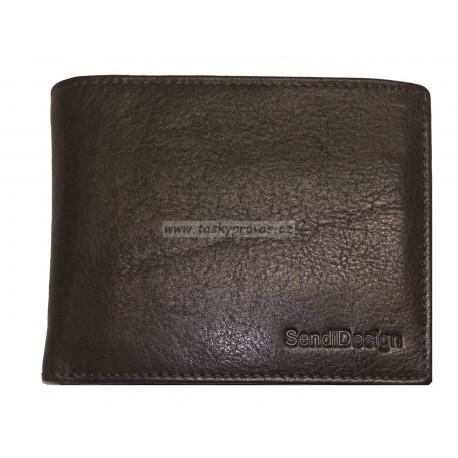 Pánská kožená peněženka SendiDesign D305 brown