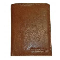 Pánská kožená peněženka SendiDesign MZ/N04 cognac