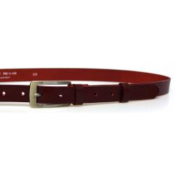 Opasek dámský kožený Penny Belts 25-176-95 bordó