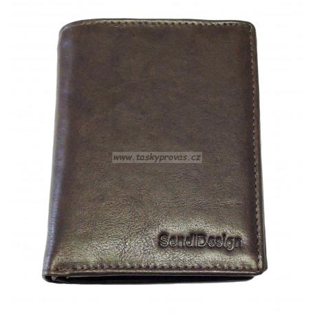 Pánská kožená peněženka SendiDesign MZ/N04 brown