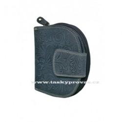Dámská kožená peněženka DD D191-36 tm.modrá (ražba)