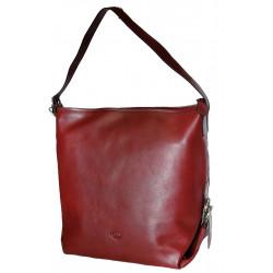 Kožená kabelka DD 02-08 tm.červená