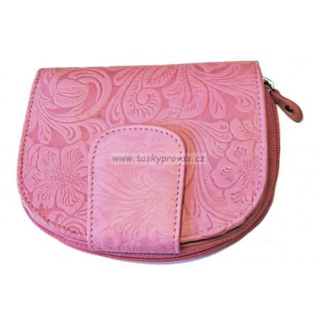 Dámská kožená peněženka DD D191-34 růžová