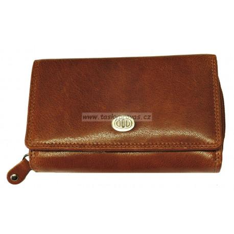Dámská kožená peněženka DD D 41-09 koňaková