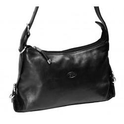 Kožená kabelka Katana DD 82891-01 černá