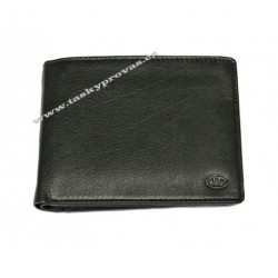 Kožená peněženka DD 123-01 černá