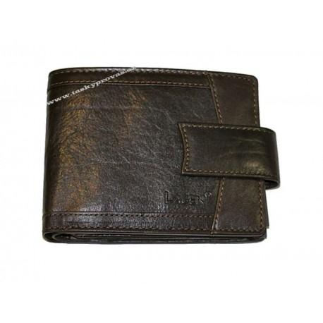 Pánská kožená peněženka Lagen V-06/T tm.hnědá