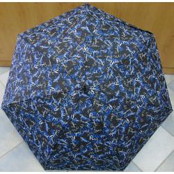 Deštník mini skládací Blue Drop A598DC modré písmo
