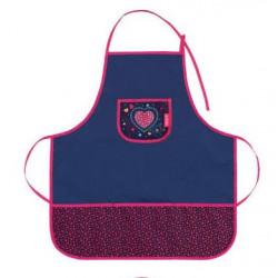 Dětská zástěrka Herlitz 50014668 - holky mix - srdce - modrá/růžová