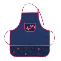 Dětská zástěrka Herlitz 50014668 - holky mix - motýli - modrá/růžová