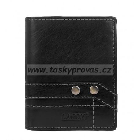 Lagen menší pánská kožená peněženka 558NC/T černá