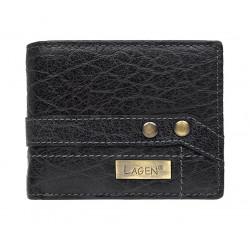 Lagen menší pánská kožená peněženka 559W/IT černá