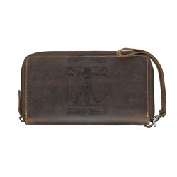 Dámská kožená peněženka Lagen 1406 hnědá