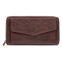 Dámská kožená peněženka Lagen 55594/M2 hnědá