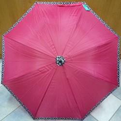 Deštník holový automat Perletti 25887 vínový
