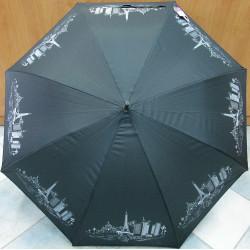 Deštník holový automat Dans l'air 8175 černo/stříbrný