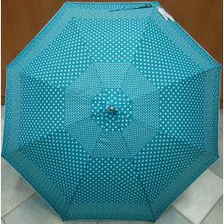 Deštník holový automat Blue Drop A551 tyrkys