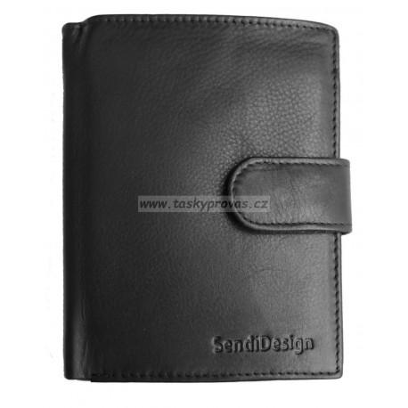 Pánská kožená peněženka SendiDesign 1072L black