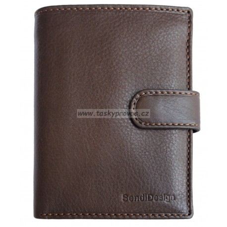 Pánská kožená peněženka SendiDesign 5704 brown