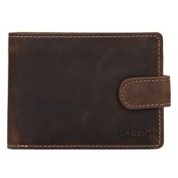 Pánská kožená peněženka Lagen 1992 tm.hnědá