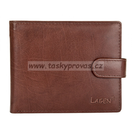 Pánská kožená peněženka Lagen E-1036 hnědá