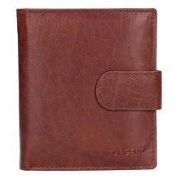 Lagen pánská kožená peněženka V-84 hnědá