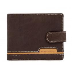 Pánská kožená peněženka Lagen 2004 hnědá/sv.hnědá