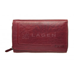 Dámská kožená luxusní peněženka Lagen HT-32/T červená