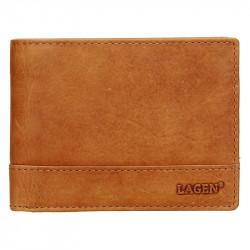 Pánská kožená peněženka Lagen LM-64665/V hnědá