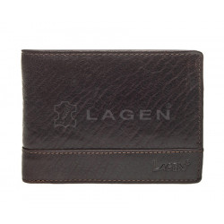 Pánská kožená peněženka Lagen LM-64665/T tm.hnědá