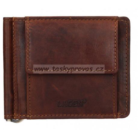 Kožená peněženka dolarka Lagen 5173 hnědá