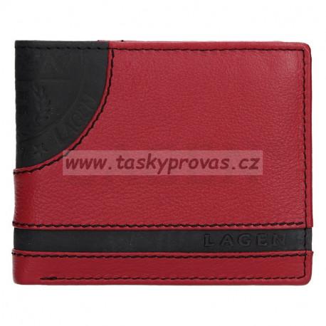 Pánská kožená peněženka Lagen LG-1812 červená/černá