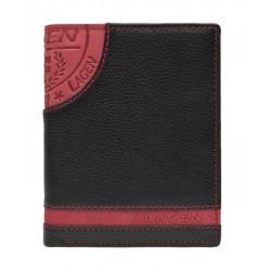 Pánská kožená peněženka Lagen LG-1813 černá/červená
