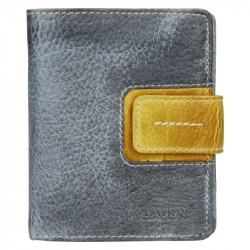 Lagen kožená peněženka 3310 grey/yellow dk