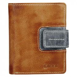 Lagen kožená peněženka 3310 caramel/grey