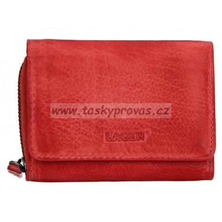 Dámská kožená luxusní peněženka Lagen 4721 tomato