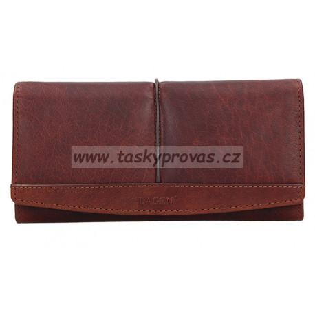 Dámská kožená luxusní peněženka Lagen BLC 4233/219 cognac
