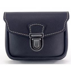Kožená kapsa na pásek Greisi M10-CSS černá