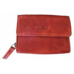 Malá dámská kožená luxusní peněženka Lagen HB-10/18 tomato