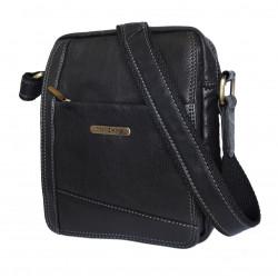 Pánská kožená crossbody taška Sendi Design CT/MG/740 černá