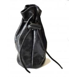 Kožený měšec Greisi M07-01 černý