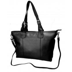 Kožená kabelka Katana DD 83817-01 černá