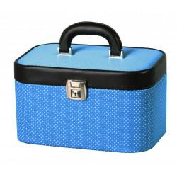 DUP kufr kosmetický 230804-010 modrý-bílé puntíky