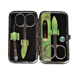 DUP manikúra 230401-451 černá a zelená kůže
