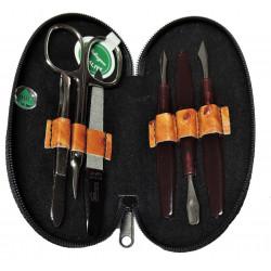 DUP manikúra Solingen 230402-055 oranžové barvy imitace pštrosí kůže