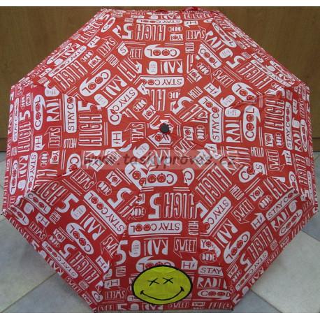 Deštník skládací Smiley 25177