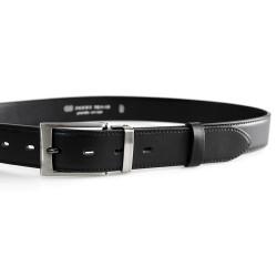Pánský luxusní kožený společenský opasek Belts 35-020-3 černý